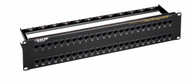 Black Box CAT6 Feed-Through Patch Panel - Unshielded, 48-Port JPM820A