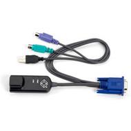 Black Box ServSelect PS/2 Style Virtual Media Module, (1) RJ-45 Male, (2) 6-Pin KV124A-PS/2