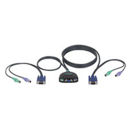 Black Box ServSwitch Micro KVM Switch PS/2 Console for (2) PS/2 Computers KV401A