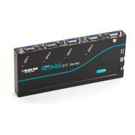 Black Box 4-Port ServSwitch DT Low-Profile KVM Switch with Cables KV7001A-K