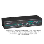 Black Box ServSwitch EC for PS/2 and USB Servers and PS/2 or USB Consoles Kit, 4 KV9204A-K