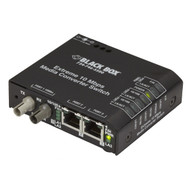 Black Box Extreme Media Converter Switch - 10-/100-Mbps Copper to 10-Mbps Fiber, LBH110A-P-ST
