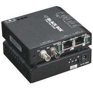 Black Box Standard Media Converter Switch, 10-/100-Mbps Copper to 10-Mbps Fiber, LBH110A-ST