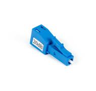 Black Box Fiber Optic In-Line Attenuator, Single-Mode, Male/Female, LC/PC, 20-dB LCPC20