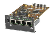 Black Box 4-Port Twisted Pair Module for Modular Fiber Switches, 10-/100-Mbps RJ LE1425C