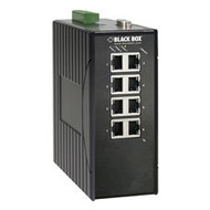 Black Box Hardened Managed Ethernet Switch, (8) 10/100-Mbps, DIN-Rail, DC LEH908A