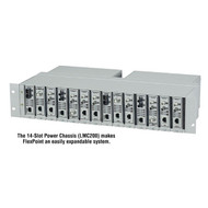 Black Box FlexPoint 14-Slot Power Chassis, Single AC Power Supply LMC200