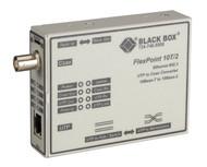 Black Box FlexPoint 10BASE-T to BNC Media Converter, 10-Mbps UTP to ThinNet LMC210A