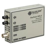 Black Box FlexPoint 10BASE-FL to BNC Media Converter, 10-Mbps Fiber to ThinNet, LMC211A-13MM