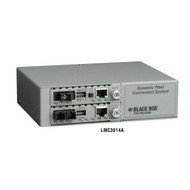 Black Box Dynamic Fiber Conversion System, 2-Slot Power Chassis, Managed, for De LMC3014A