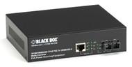Black Box PoE PSE Gigabit Media Converter, Multimode SC, 550 m LPS500A-MM-SC