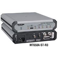 Black Box T1/E1 Fiber Optic Line Driver Rackmount Card, ST, 850-nm Multimode MT651C