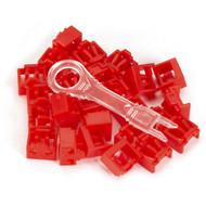 Black Box LockPORT Secure Port Locks, Red, 25-Pack PL-AB-RD-25PAK