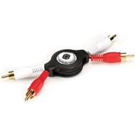 Black Box Retractable Cable, 2 RCA Male to 2 RCA Male RET-2RCA-2RCA