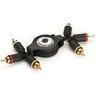 Black Box Retractable Cable, 3 RCA Male to 3 RCA Male RET-3RCA-3RCA