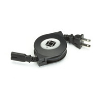 Black Box Retractable Notebook Power Cord, 2-Position Plug RET-MINI2POS-PC