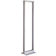 "Black Box 2-Post Premier Aluminum Distribution Rack, Mill Finish, 84"" (45U), 19"" RM156A-R3"