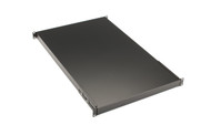 "Fixed Solid Shelf for 4-Post Racks, 28.9""D, 150-lb. Capacity"