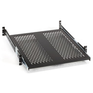 "Black Box Rackmount Sliding Vented 4-Point Shelf, 23"" Rails RMS2324S"