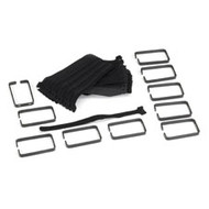 "Black Box Action Organizer Cable Management Kit, 4"" D-Ring RMT923"