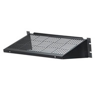 Black Box Rackmount Vented Fixed Shelf, 35-lb. Capacity RMTS02