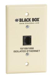 Black Box Wallplate Data Isolator, Plastic, 10/100/1000 SP4010A