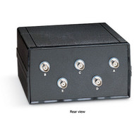 Black Box Coax Switch, ABCDE (4 to 1), Chassis Style B, BNC SW560A-BNC