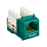 Black Box Black Box Connect CAT5e RJ-45 Keystone Jack - Unshielded, Green, 10-Pa CAT5EJ-GN-10PAK