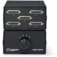 Black Box ABCDE (4 to 1) Switch, 25 Leads, Serial or Parallel (for PC Users), Ch SWL026A-FFFFF