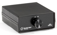 Black Box DB9 Switch, ABC (2 to 1), Chassis Style A, (2) Male to (1) Female SWL030A-MMF