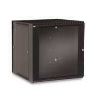 12U LINIER® Swing-Out Wall Mount Cabinet - Glass Door