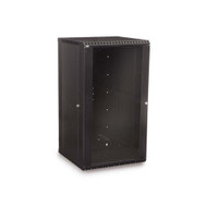 Kendall Howard 18U LINIER® Fixed Wall Mount Cabinet - Glass Door
