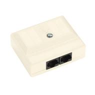 Black Box CAT5 Surface-Mount Block - T568B, 2 Jacks 38780