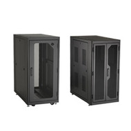 """Black Box Elite Data Cabinet, 48""""H (24U) x 30""""W x 32""""D, 10-32 Rails, PLEXIGLAS F EC24U3032TPMSMNK"""