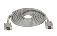 Black Box Extended-Distance/Quiet Cable with Nonremovable EMI/RFI Hoods, Strande EGM12D-0010-FF