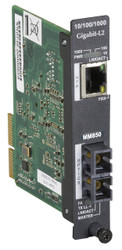 Black Box High-Density Media Converter System II Layer 2 Module, 10BASE-T/100BAS LGC5950C-R2