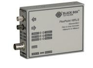 Black Box FlexPoint 10BASE-FL to BNC Media Converter, 10-Mbps Fiber to ThinNet, LMC211A-MM