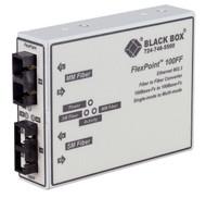 Black Box FlexPoint 100-Mbps Multimode to Single-Mode Fiber-to-Fiber Mode Conver LMC250A-ST