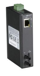 Black Box Hardened Mini Industrial Media Converter, (1) 10-/100-Mbps Copper to ( LMC270A-SM-20K-ST