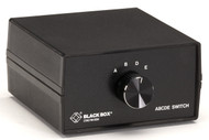 Black Box ABCDE (4 to 1) Switch, 25 Leads, Serial or Parallel (for PC Users), Ch SWL026A-MMFMM