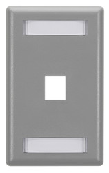 Black Box GigaStation Wallplate, 1-Port, Single-Gang, Gray WP455
