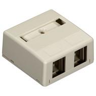 Black Box Surface-Mount Housing - 2-Port, Office White WP272-R4