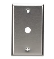 Black Box Stainless Steel Wallplate, Coax (No Jack), Single-Width, 1-Punch WP211