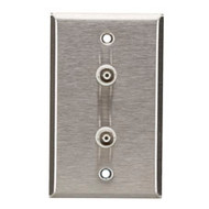 Black Box Stainless Steel Wallplate, Coax (with BNC Solder-Type Jack), Single-Wi WP230