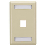 Black Box GigaStation Wallplate, 1-Port, Single-Gang, Electric Ivory WP454