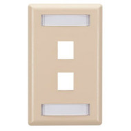 Black Box GigaStation Wallplate, 2-Port, Single-Gang, Telco Ivory WP463