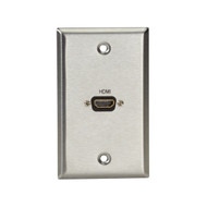 Black Box A/V Stainless Wallplate, Single-Gang, (1) HDMI F Feed-Through Coupler WP831