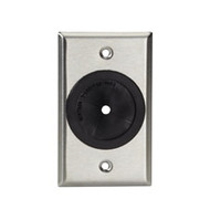 """Black Box A/V Stainless Wallplate, Single-Gang, Rubber Grommet, 1 / 4 """" -1 3 / 4 WP841"""