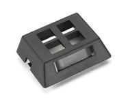 Black Box GigaBase2 Modular Furniture Faceplate, 4-Port, Black WPT471-MF