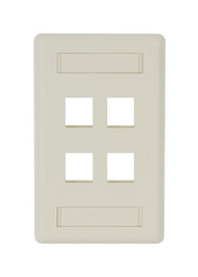Black Box GigaStation2 Wallplate - 4-Port Single-Gang, Office White WPT474